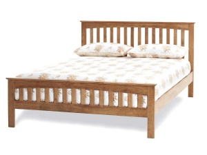 Amelia Wooden Bed Frame (Honey Oak)