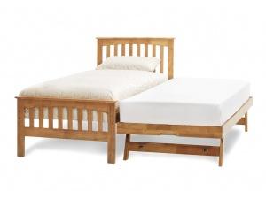 Amelia Wooden Guest Bed Frame (Honey Oak)