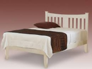 Kingfisher Wooden Bed Frame (White)