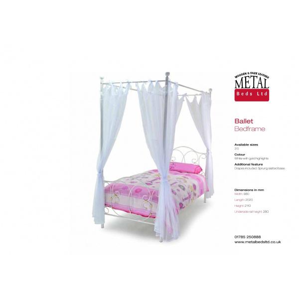 Ballet Four Poster Bed Frame