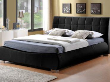 Dorado Faux Leather Bed Frame (Black)