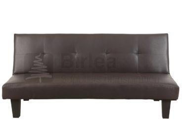 Frankling Sofa Bed (Brown Faux Leather)