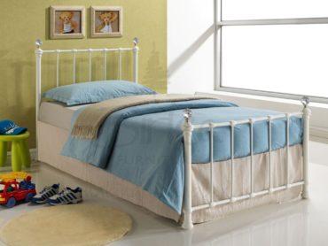 Jessica Metal Bed Frame (Cream)