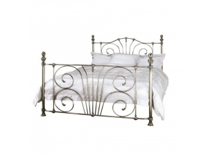 Jessica Metal Bed Frame (Antique Nickel)