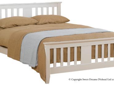 Kestral Wooden Bed Frame (White)