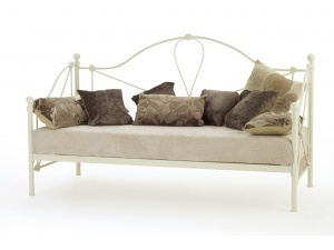 Lyon Day Bed Frame (Ivory Gloss)