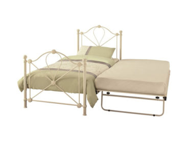 Lyon Metal Guest Bed Frame (Ivory Gloss)