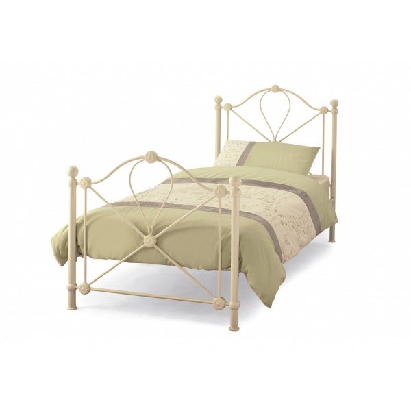 Lyon Metal Bed Frame (Ivory Gloss)