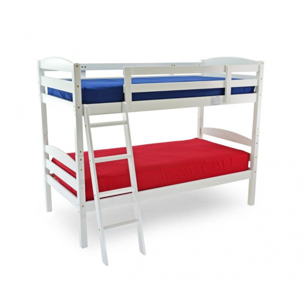 Moderna Bunk Bed (White Finish)