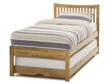 Mya Wooden Visitor Bed Frame (Honey Oak)