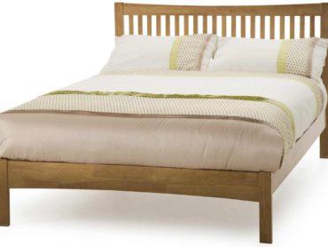 Mya Wooden Bed Frame (Honey Oak)