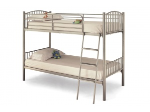 Olso Twin Bunk Bed Frame (Silver)