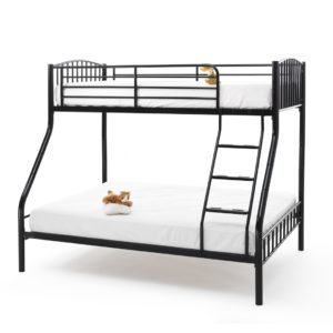 Olso Three Sleeper Bunk Bed Frame (Black)