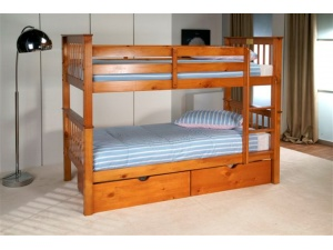 Pavo Wooden Bunk Beds (Pine)