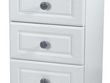 Pembroke 3 Drawer Locker (White)