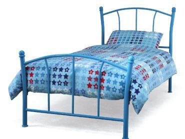 Penny Metal Bed Frame (Blue)