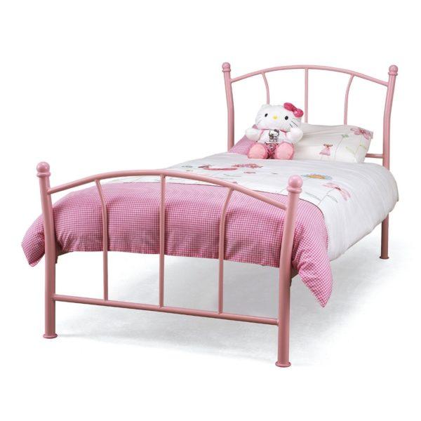 Penny Metal Bed Frame (Pink)