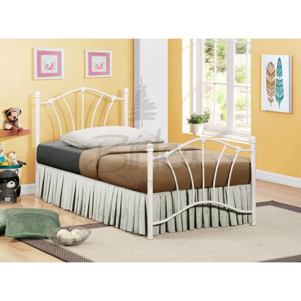 Sophia Metal Bed Frame (Cream-White)