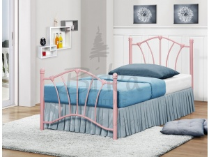 Sophia Metal Bed Frame (Pink)
