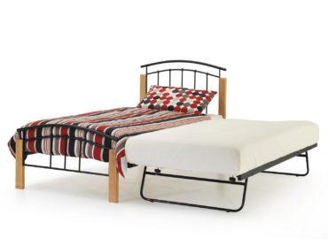 Tetras Guest Bed Frame (Black & Beech)